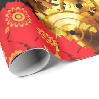 Steampunkのバレンタイン2の包装紙 ラッピングペーパー