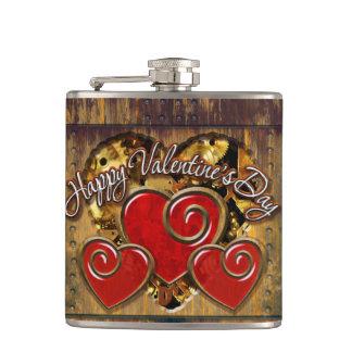 Steampunkのバレンタイン3の包まれたなフラスコ フラスク