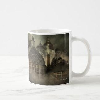 Steampunkのファンタジーの建築-弁の仕事 コーヒーマグカップ