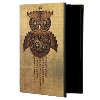 SteampunkのフクロウのヴィンテージのスタイルのiPadのpowiscase iPad Airケース