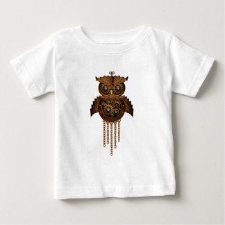 Steampunkのフクロウのヴィンテージのスタイル ベビーTシャツ