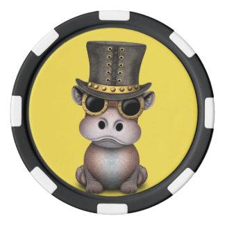 Steampunkのベビーのカバ ポーカーチップ