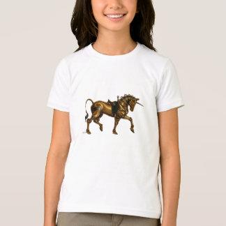 Steampunkのユニコーンのワイシャツ Tシャツ