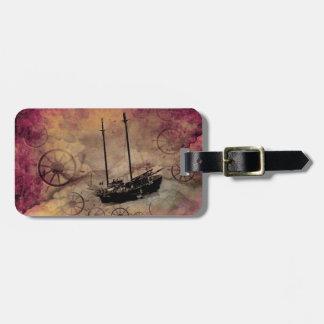 Steampunkのヨットの荷物のラベルのカスタム ラゲッジタグ