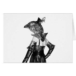 Steampunkのライチョウ グリーティングカード
