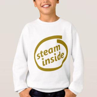Steampunkのロゴの中の蒸気 スウェットシャツ