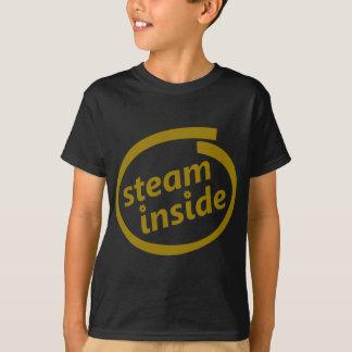 Steampunkのロゴの中の蒸気 Tシャツ