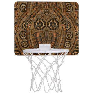Steampunkのヴィンテージの万華鏡のように千変万化するパターンの   バスケットボールバスケ ミニバスケットボールゴール