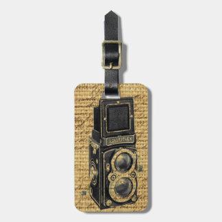 steampunkのヴィンテージの原稿のバーラップのアンティークのカメラ ラゲッジタグ