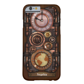 Steampunkのヴィンテージの時計#1BのiPhone 6/6Sの場合 Barely There iPhone 6 ケース