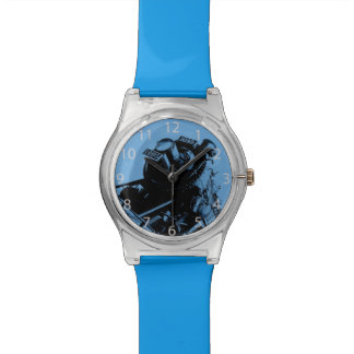 steampunkのヴィンテージ機関車 腕時計