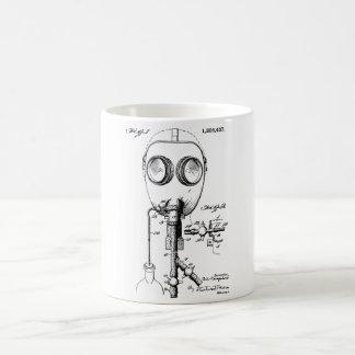 Steampunkの味のガスマスクのパテントのデザイン コーヒーマグカップ