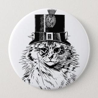steampunkの子猫猫のシルクハット 10.2cm 丸型バッジ