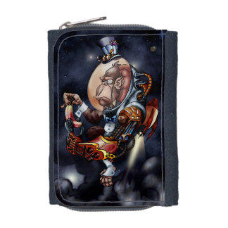 Steampunkの宇宙のチンパンジーのジェット機のパックの財布