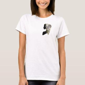 Steampunkの彫刻-芸術のトレンディー Tシャツ