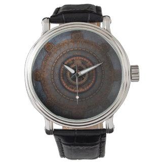 Steampunkの時刻の金属のギア 腕時計