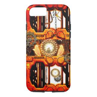 Steampunkの時計との技術的なデザイン、 iPhone 8/7ケース