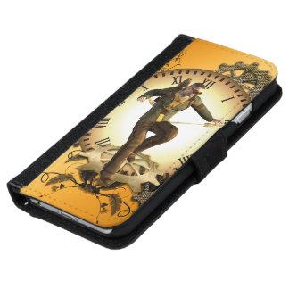 Steampunkの時計の人 iPhone 6/6s ウォレットケース