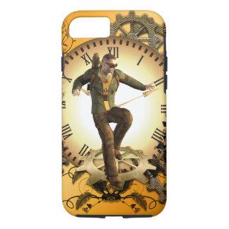 Steampunkの時計の人 iPhone 8/7ケース