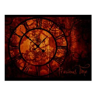Steampunkの時計 ポストカード
