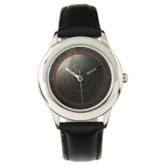 Steampunkの月の時刻の金属のギア 腕時計
