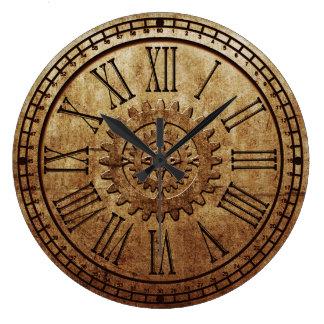Steampunkの柱時計3 ラージ壁時計