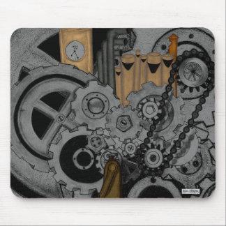 Steampunkの機械類 マウスパッド