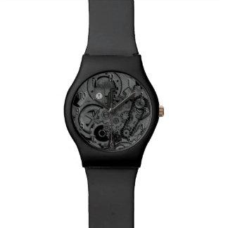 Steampunkの機械類(モノクロ) 腕時計