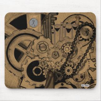 Steampunkの機械類(真鍮) マウスパッド