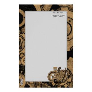 Steampunkの機械類(真鍮) 便箋