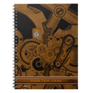 Steampunkの機械類(銅) ノートブック