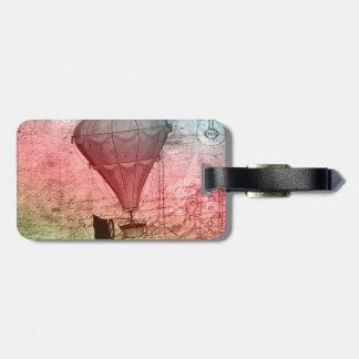 Steampunkの気球のスケッチの荷物のラベル ラゲッジタグ