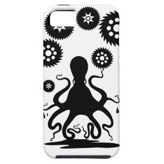 Steampunkの涼しいタコ- Kraken Cthuluのギア iPhone SE/5/5s ケース