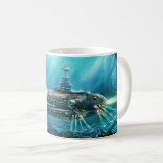 Steampunkの潜水艦のマグ コーヒーマグカップ