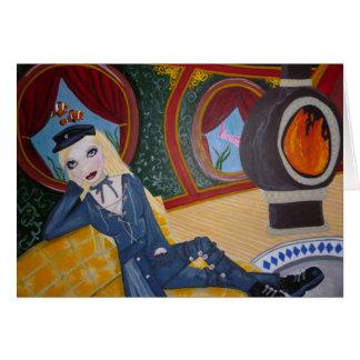 Steampunkの潜水艦-カード カード