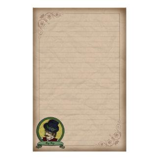 Steampunkの王子、文房具 便箋