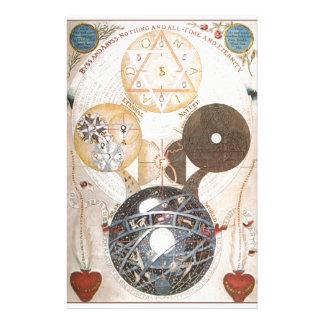 Steampunkの神秘的なダビデの星 便箋