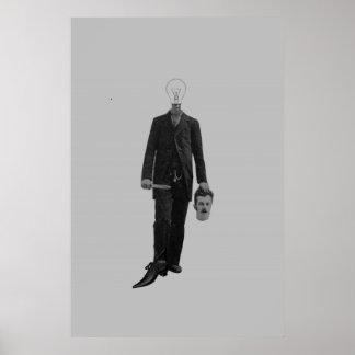 Steampunkの空想科学小説のロボットサイボーグの殺害 ポスター