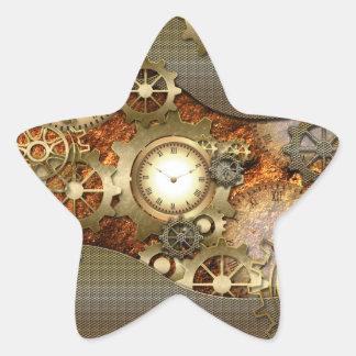 Steampunkの素晴らしいsteampunkのデザイン 星シール