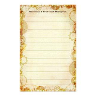 Steampunkの結婚式、文房具 便箋