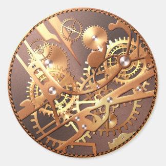 steampunkの腕時計はステッカーを連動させます ラウンドシール