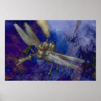 Steampunkの航空機 ポスター