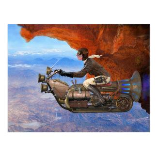 Steampunkの航空機 ポストカード
