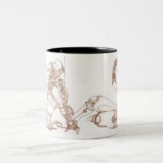 Steampunkの茶 ツートーンマグカップ