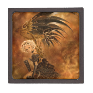 Steampunkの落ちたな天使の優れたギフト用の箱 ギフトボックス