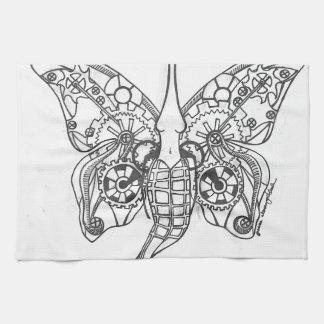 Steampunkの蝶 キッチンタオル