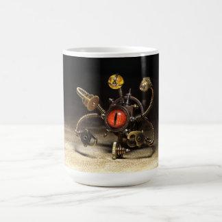 Steampunkの見る人のロボット コーヒーマグカップ