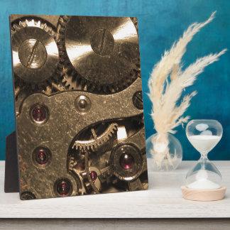 Steampunkの金属のギア フォトプラーク