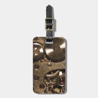 Steampunkの金属のギア ラゲッジタグ