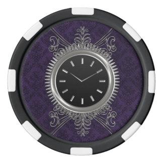 Steampunkの銀製の金属の時計 ポーカーチップ